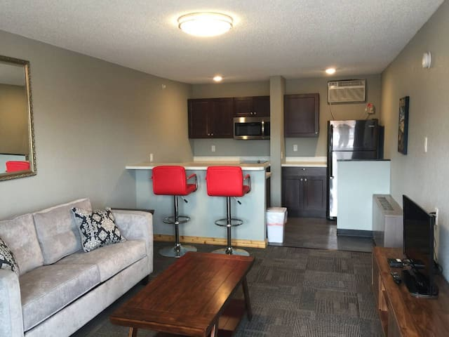 Suite 212 - 1BR with 1 bed and kitchen, 2nd floor
