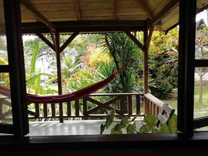 Cabaña privada. selva y mar tranquilidad total
