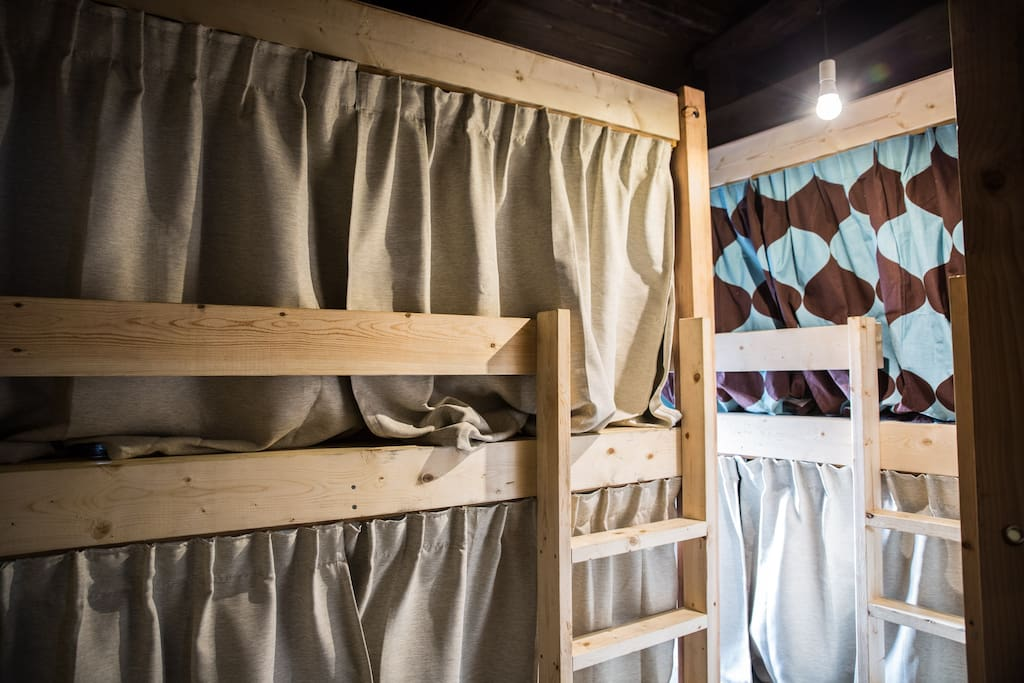 semi-double size bunk beds!