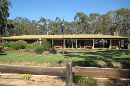 Log Cabin House in country setting - Goornong