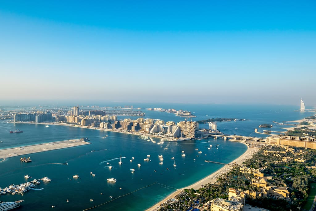 Amazing view of the Gulf & the Palm from every room.