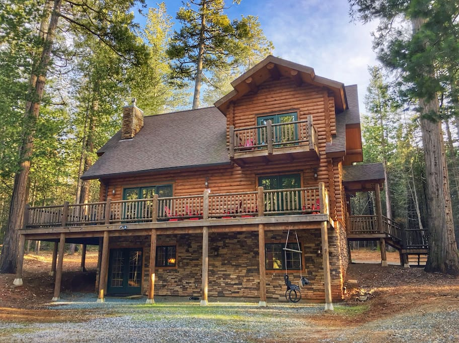 5 star luxury log cabin getaway cabins for rent in for Log cabin builders in california
