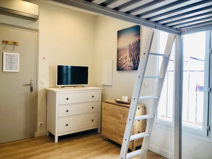 Studio Confort centre ville marché Gambetta