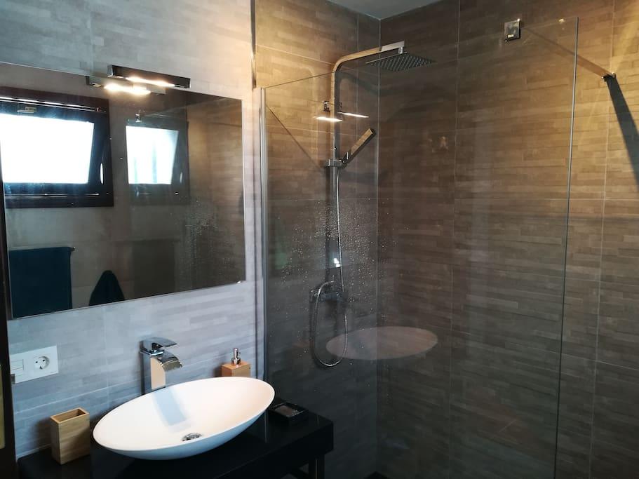 Your private bathroom right next door to your bedroom