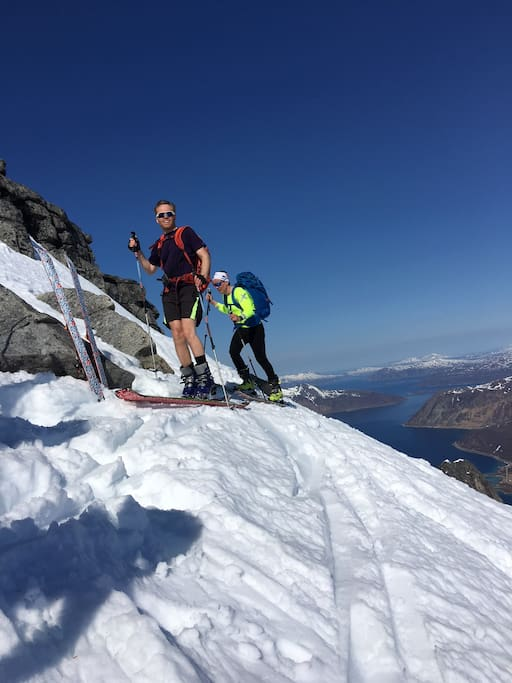 Vannøya is a great place for skiing