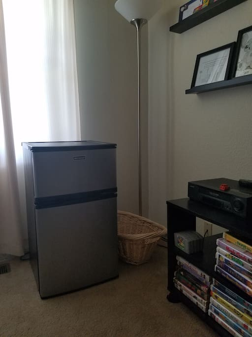 Though you are welcome to use the main fridge, your room comes with a mini freezer/fridge combination for your convenience.