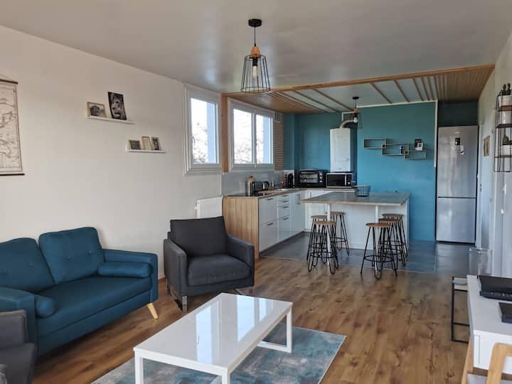 Bel appartement lumineux et chaleureux St Brieuc