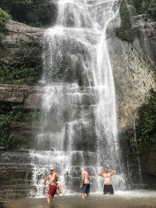 A short hike to an amazing 80m waterfall - Yangshuo's best kept secret!