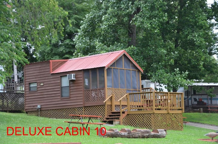 Smoky mountain deluxe wood cabin #10