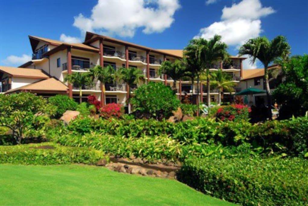 Lawai Beach Resort Banyan building. Condo is on the 3 rd floor.