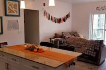 Its harvest time! Shared livingroom and kitchen space. Make yourself at home!