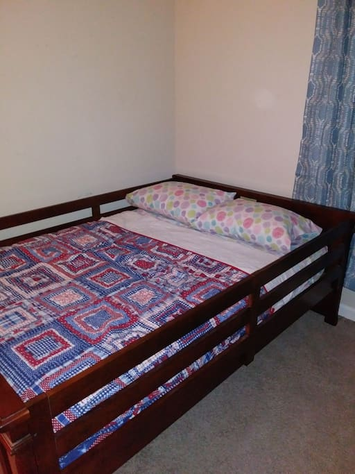 2 of 2 Full Size Bed (rails are optional for children). Rails will not be on bed unless requested in advance.