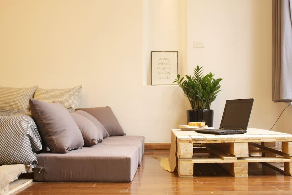 Self-made chilling corner