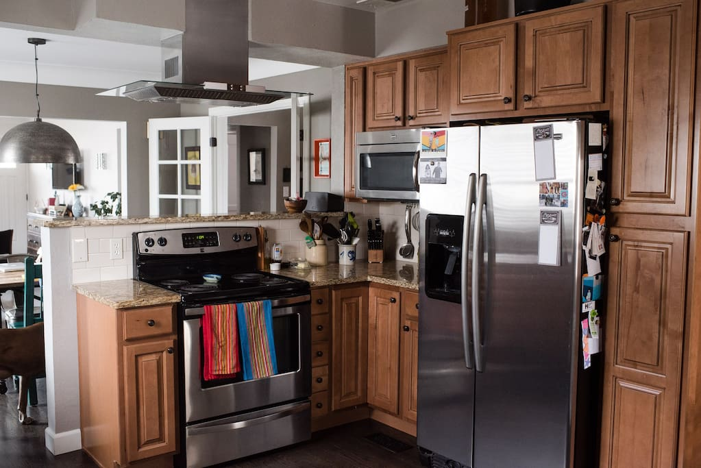 Recently redone kitchen with granite countertops.