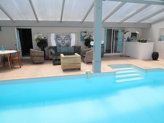 BIARRITZ ANGLET 12 adilt ,900m beach,swimming pool