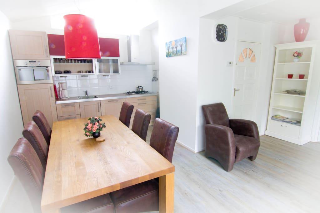 keuken  en achterkamer