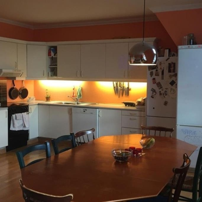 Large clean kitchen with all you need