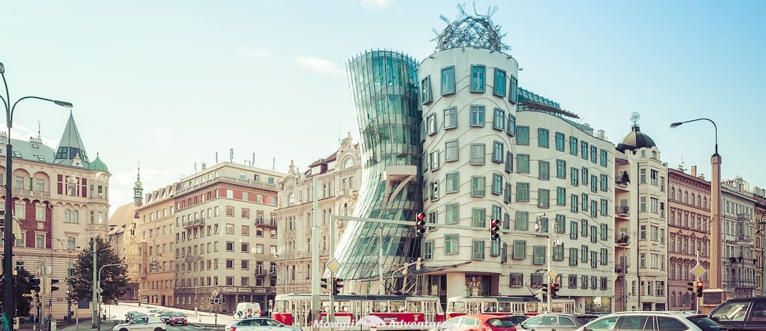 Dancing House (800meters from flat)