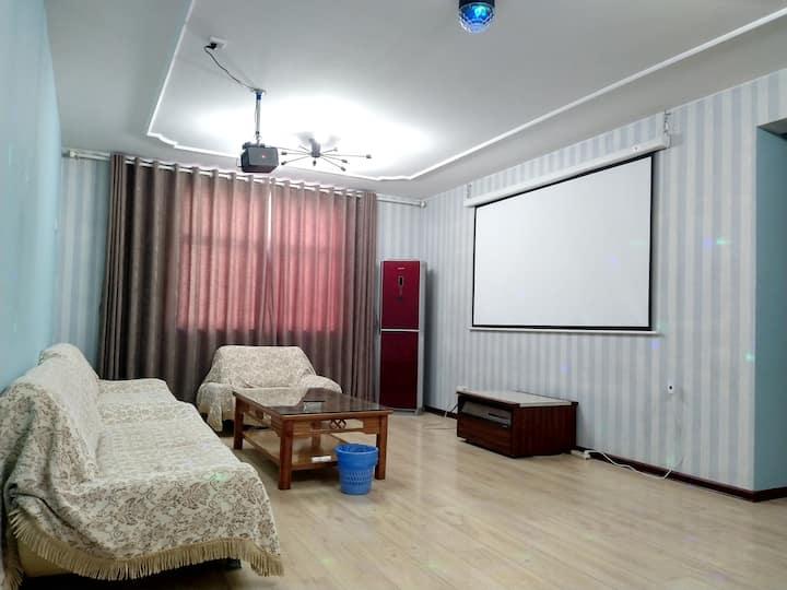 新印象主题公寓-三室南湖新村观影大床房