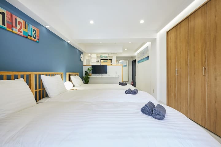 # 63★4 Beds Shinjuku, Kabukicho, Free pocket WiFi