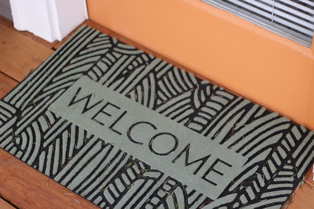 Welcome mat - in front and back door for wiping feet
