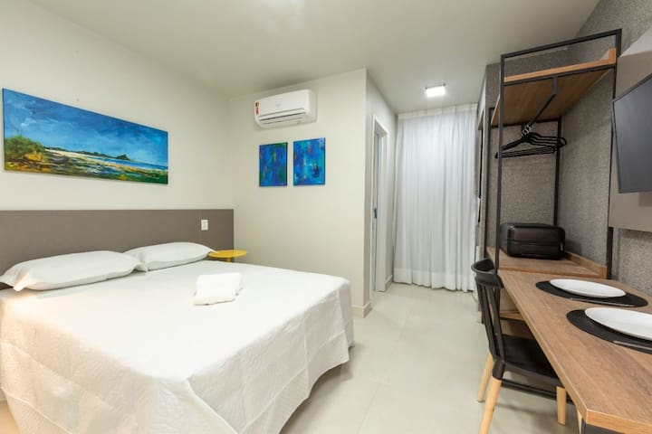Suite for 3 people at ArtHomes Ponta Negra
