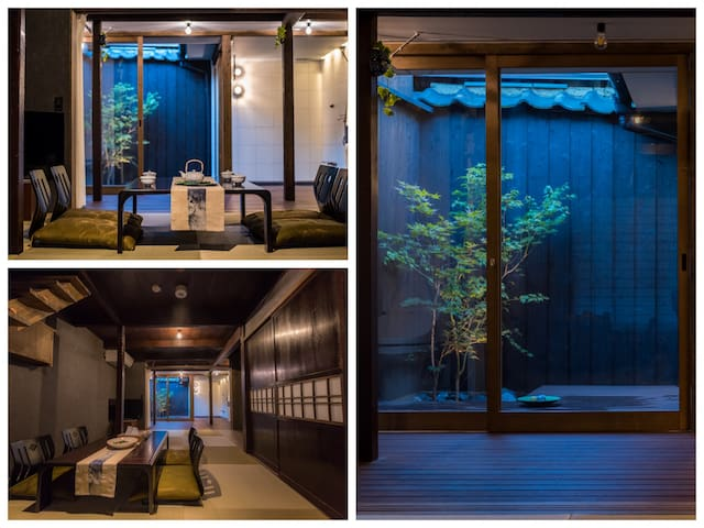 Machiya stay inside Chomyo temple, stay with Zen.E