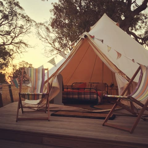 Bellwether Winery Glamping Bell tents - Queen bed