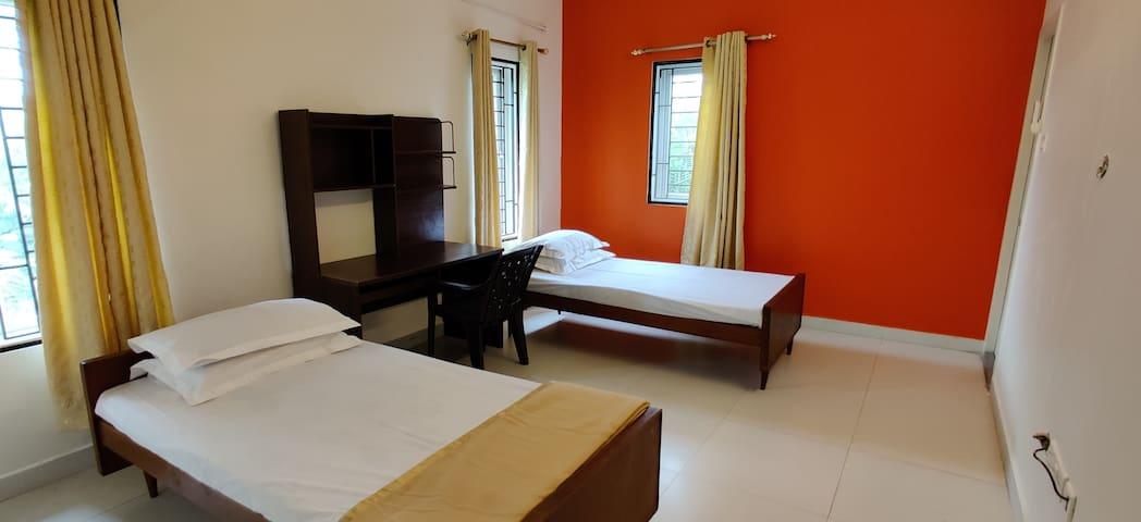 First floor Bedroom 3 with study