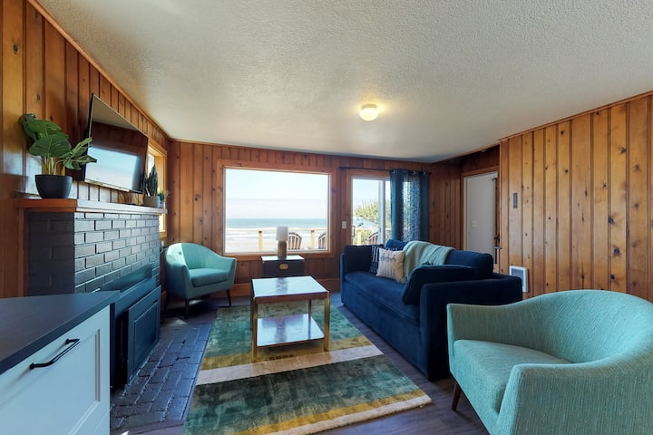 Renovated oceanfront home w/ path to the beach & deck - 2 dogs OK!