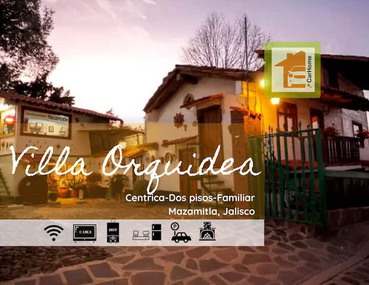 Villa Orquídea, 2 pisos, chimenea, balcón exterior