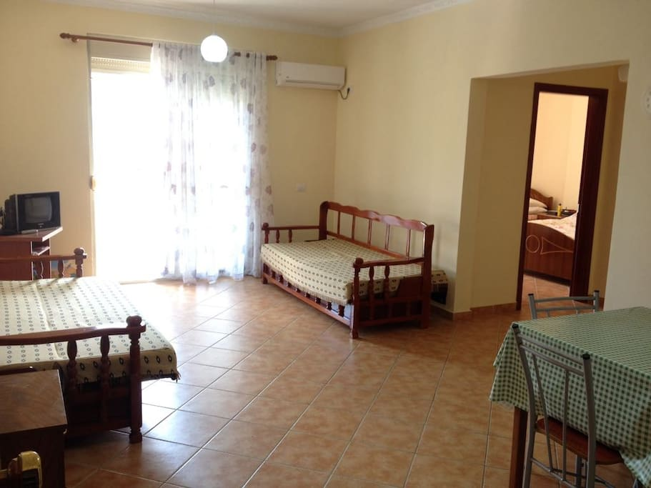 new and bright apartment for max 6 persons, with 2 balconies.