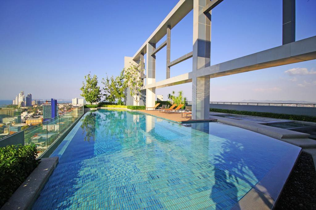 Swimming pool in day time
