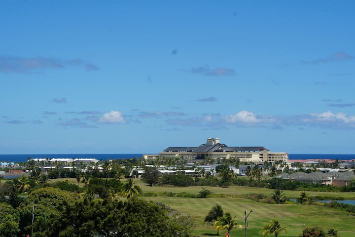 View from Main Terrace over Golf Course, Marriott Resort & Atlantic Ocean