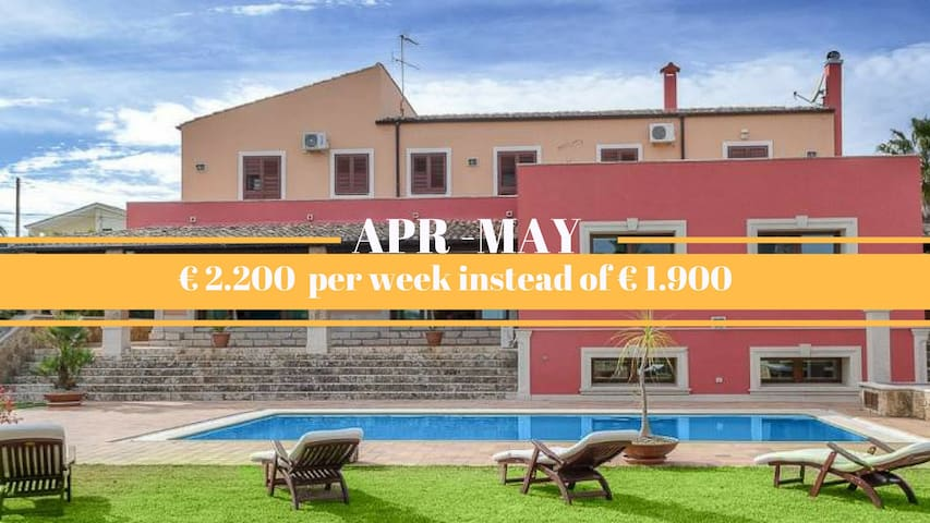 Luxurious villa with parco and pool - Noto
