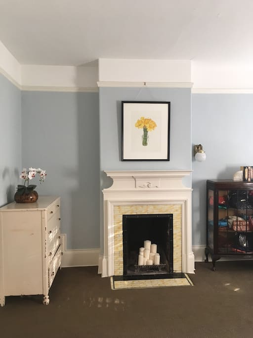 Fireplace in bedroom (not usable)