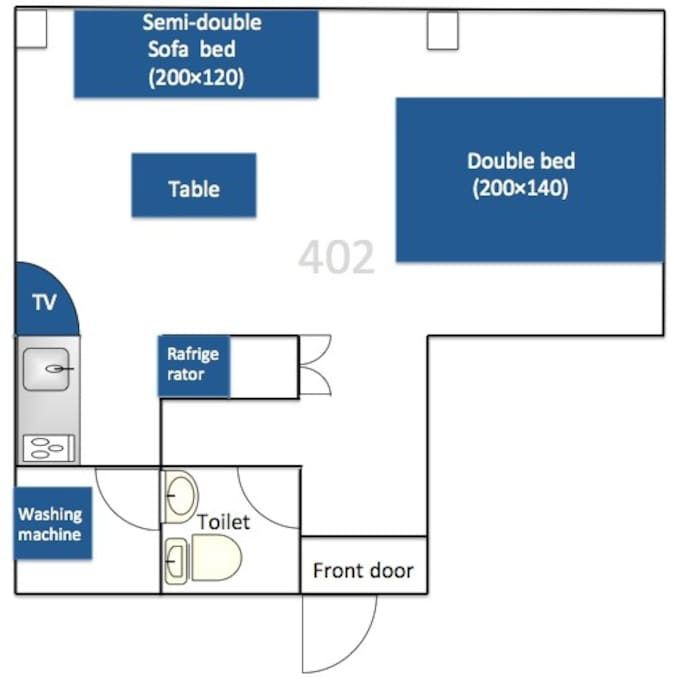 layout of room.