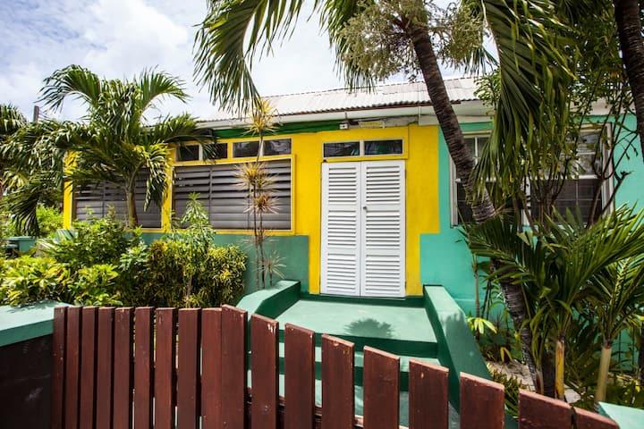 Guesthouse room across beach