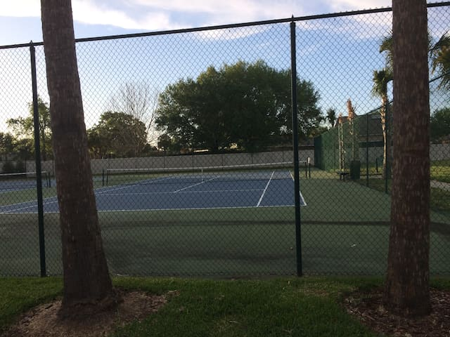 Double tennis courts