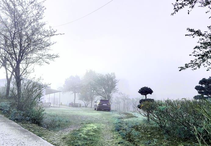 숲속외갓집.야생화꽃밭과 계곡으로 둘러쌓인 800평 프라이빗하우스,솥뚜껑바베큐, 패밀리풀장.