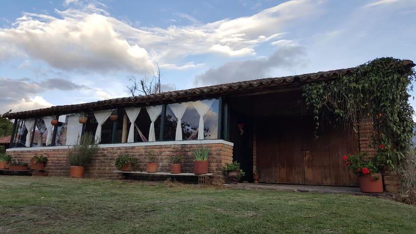Cabaña campestre-Villa de Leyva - Villa de Leyva - Cabaña en la naturaleza