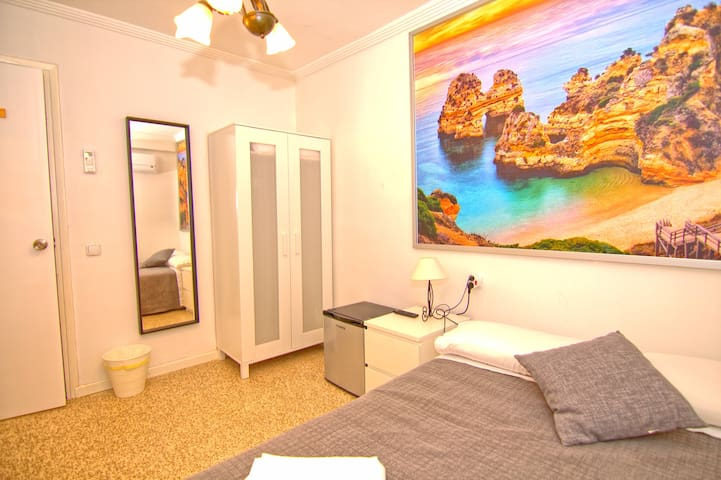 private room, pool and 5 minute walk to the beach