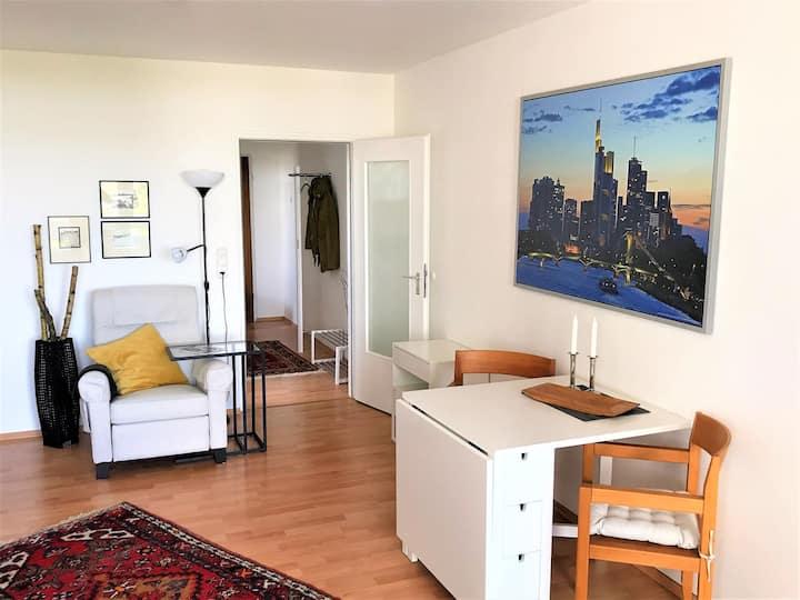 Möbliertes Appartement mit Skyline-Blick