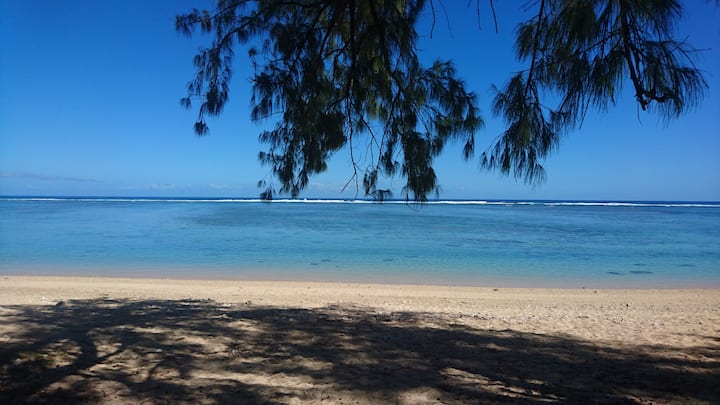 Villa de plage bord de lagon