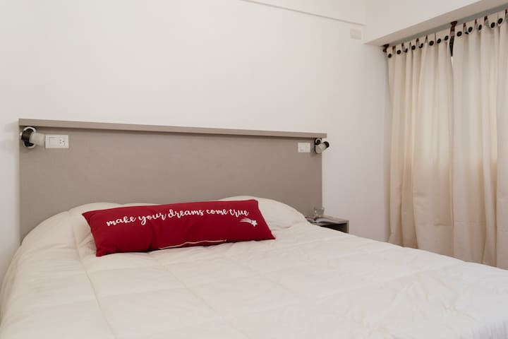 The two beds can be used together or separately. We provide bed linen.