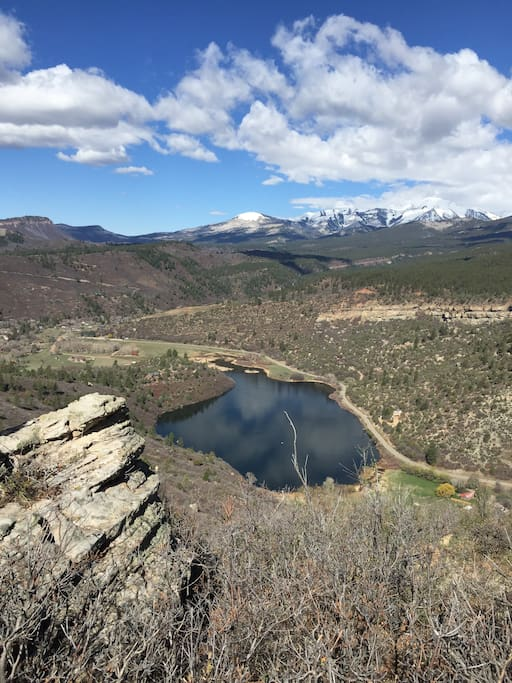 Property viewed from Animas Mt BLM, which the property borders