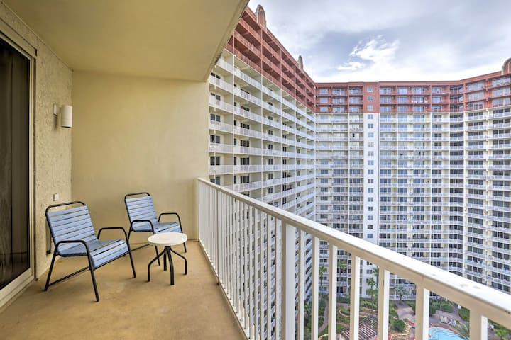 Enjoy a spacious studio getaway in the Shores of Panama Beach Resort!