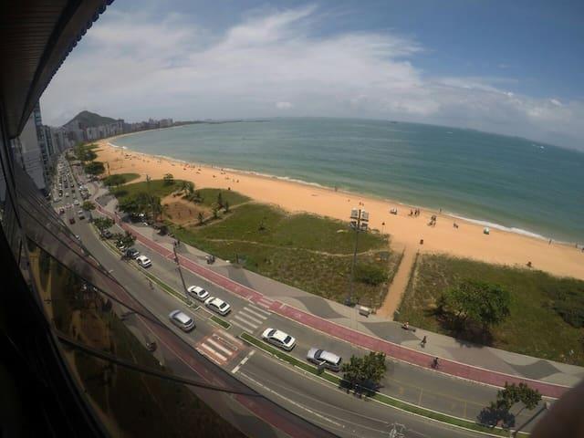 Vista panorâmica para o mar da Praia da Costa