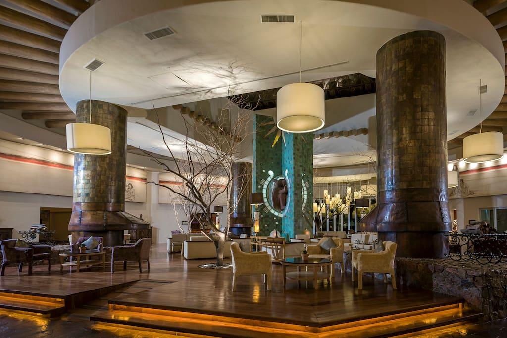 Elegant common spaces invite you to unwind.