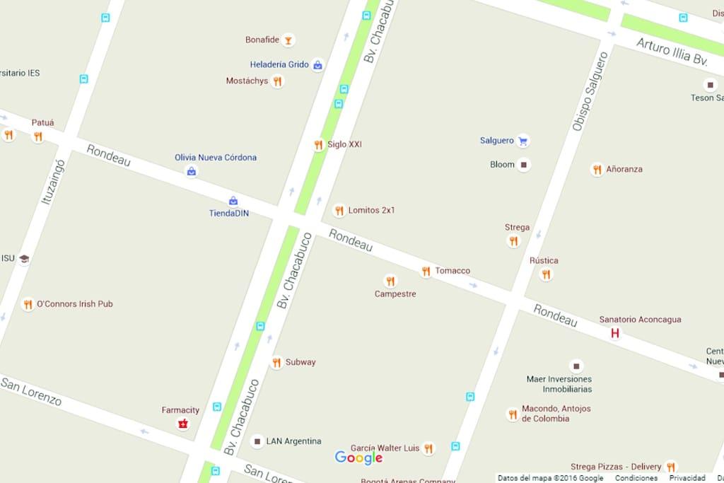 Bares, farmacias, Sanatorio Allende, Super Buenos Días a la vuelta, y playa de estacionamiento ¡En la misma cuadra!